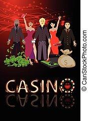 Männer gewinnen Casinos und eine Menge Dollar