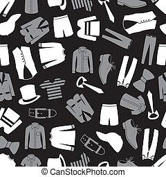 Männer Kleidung nahtlose Muster eps 10.