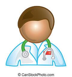 Männliche Doktor-Ikone
