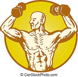 Männlicher Anatomie-Körperbauer, fliegender Muskel