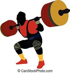 Männlicher Athleten-Powerlifter.