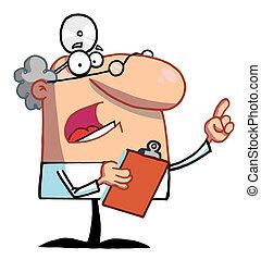 männlicher doktor, älter