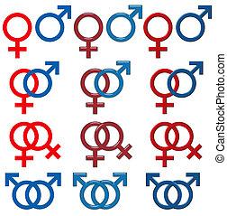 Männliches weibliches Symbol