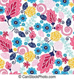 Märchenblumen sind nahtloser Musterhintergrund