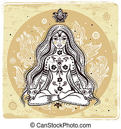 m�dchen, meditation