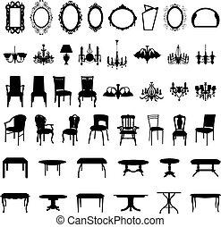 Möbel-Silhouette-Set