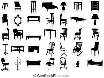 Möbel-Silhouette Vektor Illustr