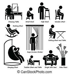 Möbel und Dekorationen Ikonen