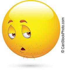 Müdees Smiley-Gesicht