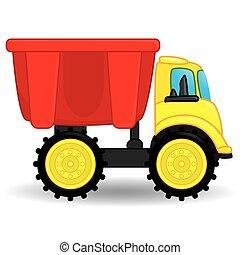 Müllwagen-Spielzeug. Vector Illustration