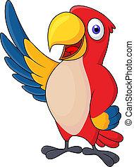 Macaw bietet Carton winkt