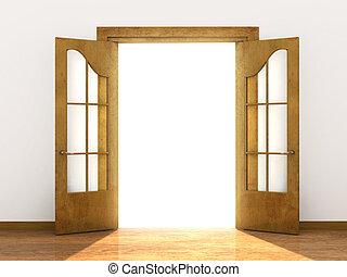 Mach die Tür auf.