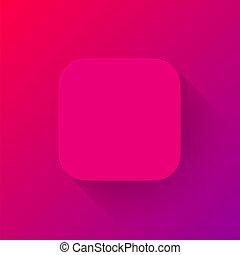 Magenta Technologie App Icon leere Vorlage