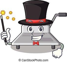 Magicianische Bindungsmaschine eine in den Charakter.