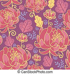Magische Blumen nahtloser Musterhintergrund