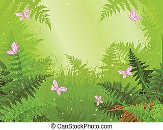 Magische Waldlandschaft