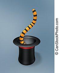 Magischer Hut mit Tigerschwanz