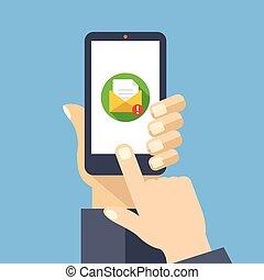Mail App auf Smartphone-Bildschirm