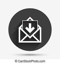 Mail-Icon. Envelope Symbol. Inbox-Nachrichtzeichen.