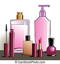 Make-up und Kosmetikprodukte.