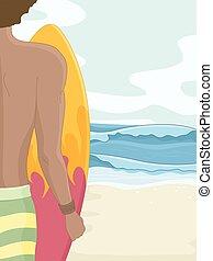 Man Beach Surfbrett.