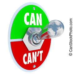 Man kann oder kann den Schalter umlegen, der zur Lösung der Einstellung verpflichtet ist