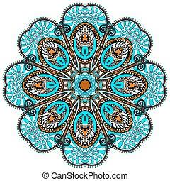 Mandala, Kreis der dekorativen spirituellen indischen Symbol des Lotusflusses.