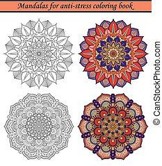 Mandalas für Anti-Stress-Farbbuch 2