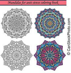 Mandalas für Anti-Stress-Farbbuch 3