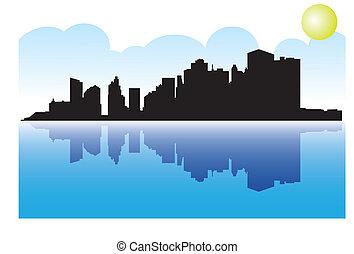 Manhattan mit Spiegelei