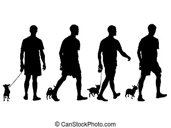 Mann mit Hund.