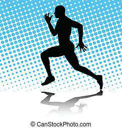 Mann rennt