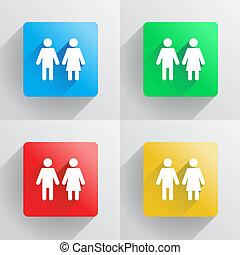 Mann und Frau Symbol.