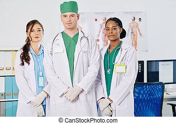mannschaft, multi-ethnisch, medizin
