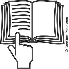 Manual Book Vektorsymbol (Instruction Icon)