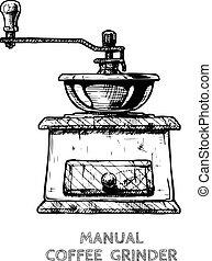 Manuelle Burr Mühle Kaffeemühle