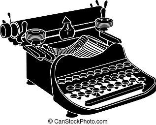 Manuelle Schreibmaschinenvektor