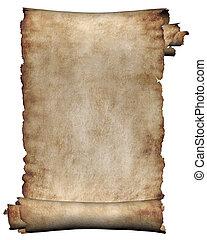 Manuskript, raue Rolle Pergament