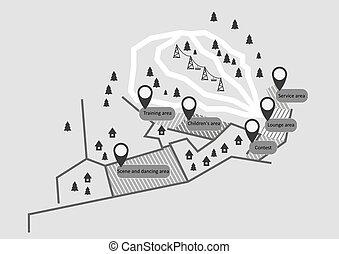 Map Ski Resort.