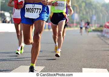 Marathonrennen.