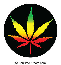 Marihuana-Lebens illustreation.