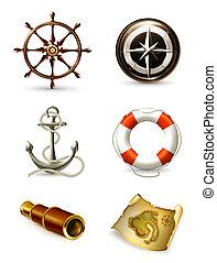 Marine Set, hochwertige Icons 10eps
