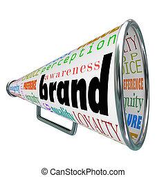 Marken-Megaphone Werbeprodukte Bewusstsein schaffen Loyalität.