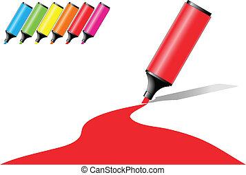 Marker-Pflaster mit Farbflächen in verschiedenen Farboptionen