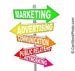 Marketing-Kommunikation über Pfeilzeichen