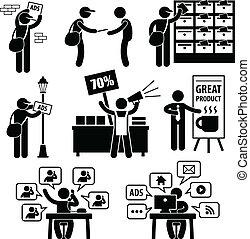 Marketingstrategie für Werbung