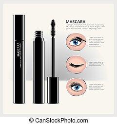 Mascara Verpackung mit Augenschminke.