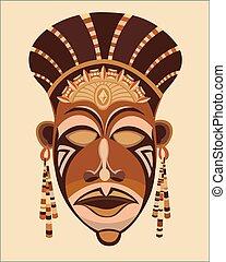 Maskengesicht afrikanische Frauen.