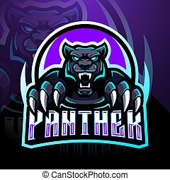 maskottchen, design, panther, logo, esport