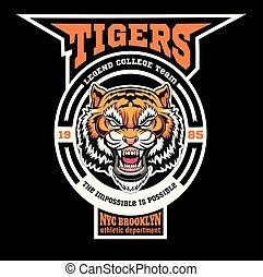 Maskottchen Tigers - Sports Team Logo Vorlage.